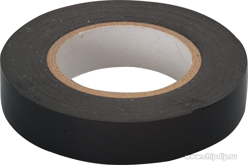 Изолента ПВХ черная 19 мм 20 м
